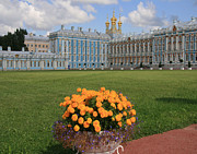 Catherine White Prints - Catherine Palace in Russia Print by Sharon Kalniz