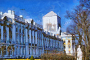 Neo-classical Framed Prints - Catherine Palace in St Petersburg Framed Print by Nelieta Mishchenko