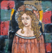 Devotional Paintings - Catherine by Rain Ririn