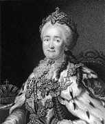 Catherine White Prints - Catherine The Great, Empress Of Russia Print by Middle Temple Library