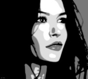 Acteur Digital Art Prints - Catherine Zeta Jones 5 Print by Jim Belin