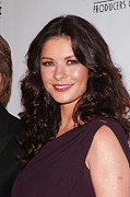 Hair Parted In The Middle Prints - Catherine Zeta-jones At Arrivals Print by Everett