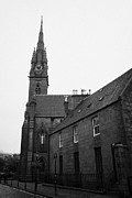 Overcast Day Photo Prints - Catholic Cathedral Of St Mary Of The Assumption Aberdeen Scotland Uk Print by Joe Fox