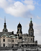 Baroque Prints - Catholic Church of the Royal Court - Hofkirche Dresden Print by Christine Till