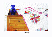 Quilt Drawings Posters - Cathys Quilt Poster by Colleen Brown
