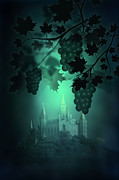 Gothic Poster Prints - Catle and Grapes Print by Svetlana Sewell
