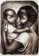 Black Arts Framed Prints - Catlett: Mother, 1959 Framed Print by Granger