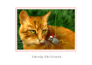 Humorous Cat Paintings - Catnip Christmas... by Will Bullas