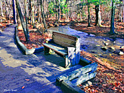 Trout Digital Art - Catoctin Bench by Stephen Younts