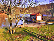 Trout Digital Art - Catoctin Lake Boathouse by Stephen Younts