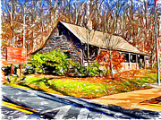 Trout Digital Art - Catoctin Visitor Center by Stephen Younts