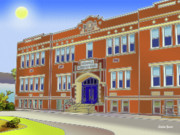 Auction Digital Art Prints - Catonsville Elementary School Print by Stephen Younts
