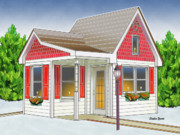 Frederick Digital Art Posters - Catonsville Santa House Poster by Stephen Younts