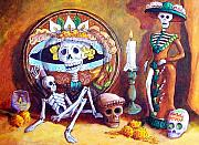 Still Life Pastels Prints - Catrina Print by Candy Mayer