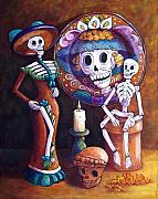 Mexican Holiday Prints - Catrina Group Print by Candy Mayer