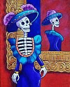 Catrina In The Mirror Print by Candy Mayer
