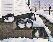 Tabby Art - Cats - Jakes Mousers by Carol Wilson