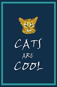 Cool Cats Paintings - Cats are cool by Gretzky