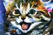 Eyes  Paintings - Cats Eyes 15 by John D Benson