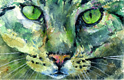 John Benson Paintings - Cats Eyes 17 by John D Benson
