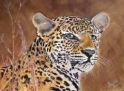 Leopard Print Paintings - Cats Eyes by Barbi  Holzmann