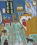 Nancy Denommee - Cats in Van Gogh