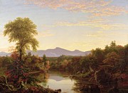 Mountain Painting Metal Prints - Catskill Creek - New York Metal Print by Thomas Cole