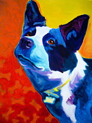 Alicia Vannoy Call Prints - Cattle Dog - Piper Print by Alicia VanNoy Call