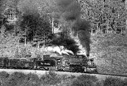 Steam Train Prints Art - Cattle Train by Ken Smith