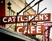 Stockyards Posters - Cattlemens Steakhouse Poster by David Waldo