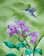 Visionary Art Paintings - Cattleya Skinneri by Joyce Small