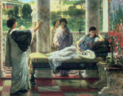 Fan Metal Prints - Catullus Reading his Poems Metal Print by Sir Lawrence Alma Tadema