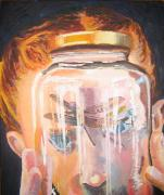 Joni Mitchell Paintings - Caught a Dragonfly Inside a Jar by Kayla Race