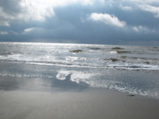 Isle Of Palms Framed Prints - Caught a Wave Framed Print by B Rossitto