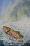 Cutthroat Trout Posters - Caught Poster by Gale Cochran-Smith