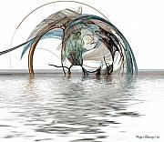 Alberta Artists Prints - Caught In A Net Print by Wayne Bonney
