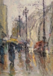 Plein Air Originals - Caught in a Storm of Wonder by Jerry Fresia