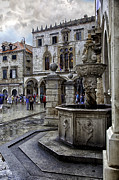 Dubrovnik Acrylic Prints - Caught in the Rain - Dubrovnik Acrylic Print by Madeline Ellis