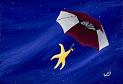 Umbrella Paintings - Caught The Wind by Kerri Ertman
