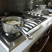 Cauliflower Photos - Cauliflower Cooking on the Stove by Marlene Ford