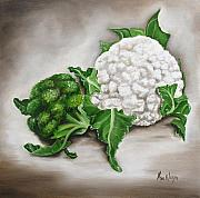 Vegetables Paintings - Cauliflower by Ilse Kleyn