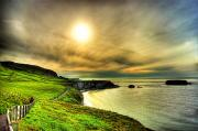 Causeway Coast Prints - Causeway Sunset Walk Print by Kim Shatwell-Irishphotographer