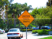 Signs Jewelry - Caution Cross Traffic by John King