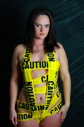 Blalock Prints - Caution Print by Dana  Oliver