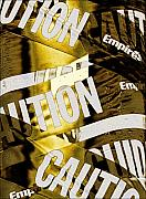 Caution Prints - Caution Print by Robert Ullmann