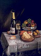 Bread Paintings - Cava y Queso by Mai Griffin