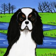 Charles Mixed Media Prints - Cavalier King Charles Spaniel Print by Leanne Wilkes