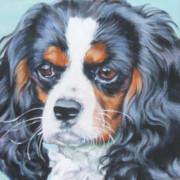 Spaniel Puppy Paintings - Cavalier King Charles Spaniel  by Lee Ann Shepard