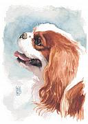 Akc Painting Framed Prints - Cavalier Profile Framed Print by Debra Jones