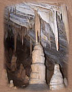 Stalactites Prints - Cave Formations 44 Framed Print by Ernie Echols